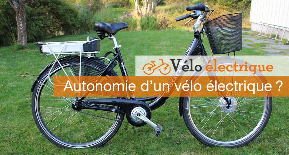 Autonomie d'un vélo électrique